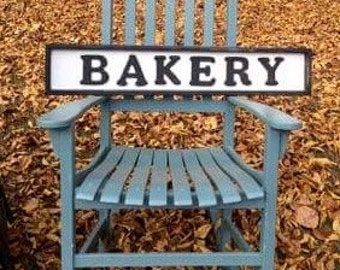 "Wooden ""BAKERY""  sign"