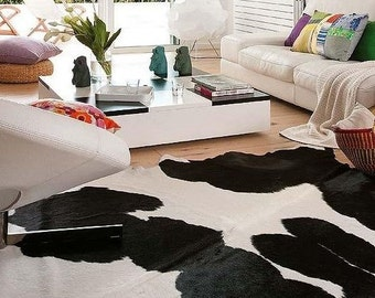 luxury cowhide rug large black and white cow skin 100 natural cowhide leather