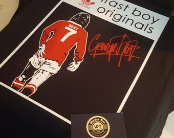 "George Best Tribute T-Shirt ""Belfast Boy Originals"" Man Utd version GAWA"