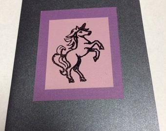 Unicorn Handmade Greeting Card