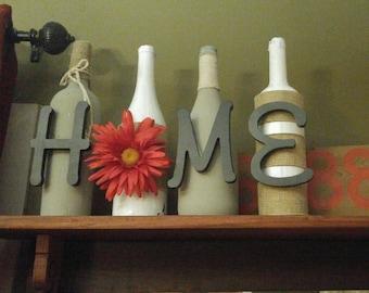 Home wine bottle art