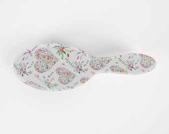 Floral Hearts Hairbrush
