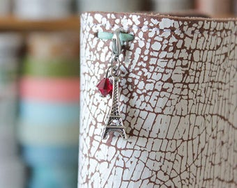 Plannercharm Eiffeltower - Charm for your Travelers Notebook with Swarovski Elements