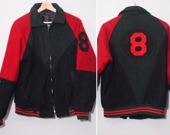 All black 8 ball jacket