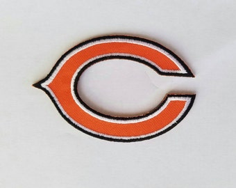 Chicago Bears iron on inspired patch, Chicago Bears embroidery patch inspired