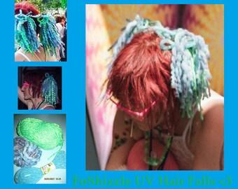 Reflective Wool Dread Hair Falls