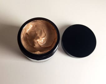 Natural chocolate bronzing face/body light texture cream