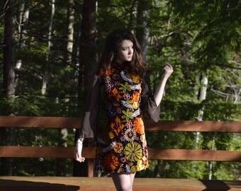 upcycled groovy velvet mini dress