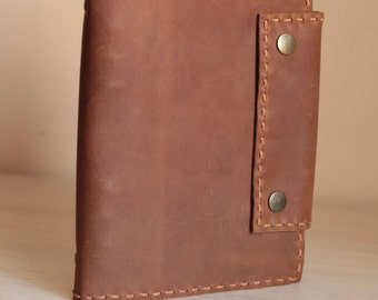 Leather journal Cover, lined journal, recipe journal book, personalized journals, refillable leather journal
