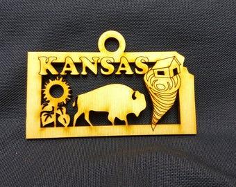 Kansas State Ornament