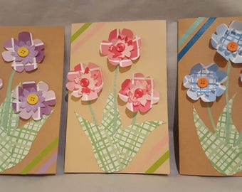 Handmade 3-D Flower Card, Mother's Day card, Birthday card, Anniversary card