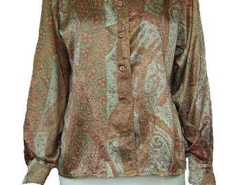 Windsmoor paisley silky blouse size 12.