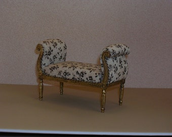MINIATURE Upholstered Bench