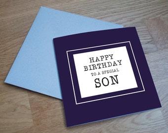Eco Friendly Birthday Card - 'Special Son'
