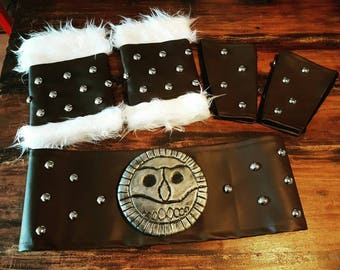 Various leather items for cosplay