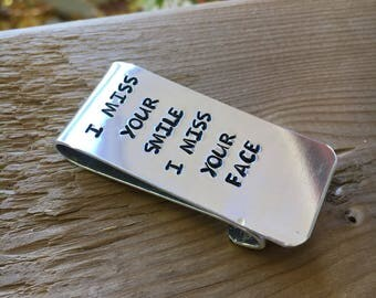 Personalized Money Clips Hand Stamped