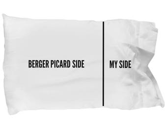 Berger Picard Pillow Case - Funny Berger Picard Pillowcase - Berger Picard Gifts - Berger Picard Dog Side My Side