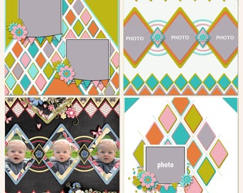 Dazzling Diamond Scrapbooking Templates