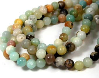 """Wholesale Lot of 5- 15.5"""" strands Amazonite Beads 6mm"""