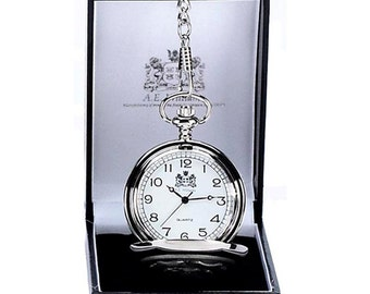 AE William Pocket Watch, Single Door. Engraved with your message, perfect wedding or anniversary present.