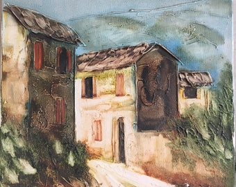 OIL PAINTING casarè oil painting on canvas vintage italy