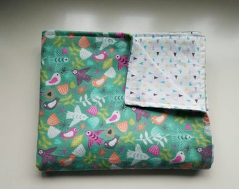 Baby/Toddler Blanket, Birds, Neon, Flowers, Triangles