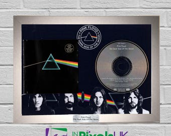 Pink Floyd - The Dark Side Of The Moon CD Frame Presentation Rare Custom