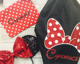 Adorable Minnie Mouse Ears and Personalized Backpack Set!