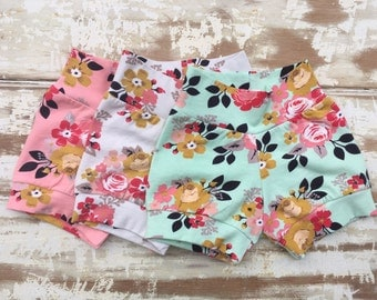 Shorts | Vintage Daydream | Floral | Riley Blake | 3 color choices | Modern Baby Shorts