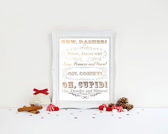 christmas gold foil print night before christmas quote print