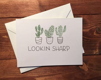 Lookin Sharp Greeting Card