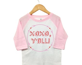 Valentines Day Shirt,Arrow XOXO Y'all, Toddler Valentine, Toddler Heart Shirt, Girls Valentine Shirt ,XOXO Valentine Shirt, Baby Valentine