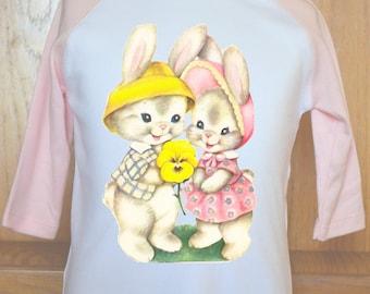 Vintage Bunny Shirt, Toddler Easter Shirt, Toddler Bunny Shirt, Childs Bunny Shirt, Kids Bunny Shirt, Kids Easter Shirt, Bunny Rabbit Shirt