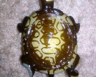 Wooden Turtle Pendant