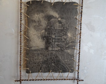 Decor . Modern Home Decor. old picture.filigree. forging.locomotive.