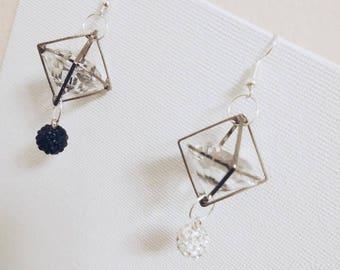 Black&White Ice Rock earring