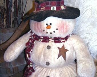 "Mr. Chubb's a 20"" Primitive Snowman Pattern"