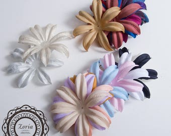 Lily Satin Decorative 3D flower Petals for Hats Making Home Wedding Event Party Decoration  | 802013