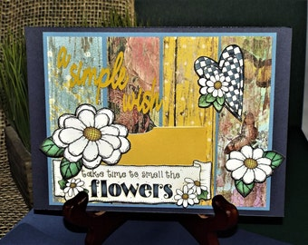 """Daisy's and Denim """"A Simple Wish"""" card holder for him or her, brother, sister, or best friends any occasion with a matching envelope"""
