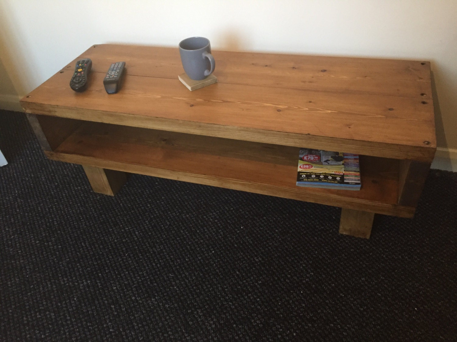 Coffee Table Tv Stand Hand Made In The By Uniquerusticbyjoshua