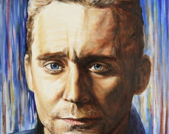 Tom Hiddleston oil painting - A3 wall art