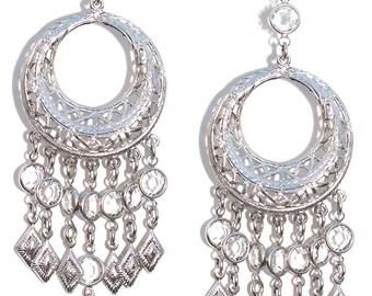Streets Of Soho Edie Sedwick Inspired chandelier earrings