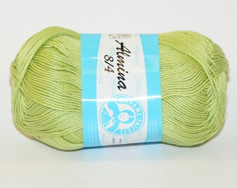 100% Mercerized cotton yarn / Almina Madame Tricote / Green