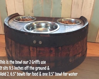Made to OrderWhisky: Barrel Dog Bowl