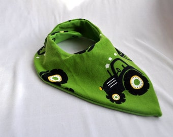 Slobber cloth tractor on green
