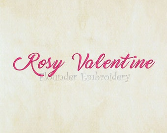 Rosy valentine Embroidery Font 5 Size Embroidery Designs Fonts INSTANT DOWNLOAD