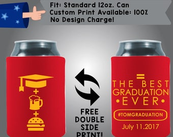 The Best Graduation Ever Date Graduation Collapsible Fabric Can Cooler Double Side Print (Grad2)