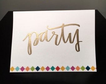 White Party Embossed Card