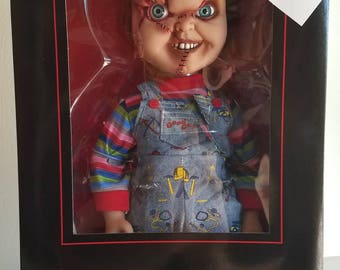 Chucky 15 inch talking doll Childs play Bride of Chucky Mezco