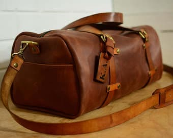 travels bag, Leather weekend bag, Leather duffle bag, Leather sport bag, gym bag , Travel Bag, Weekend bag, free PERSONALIZATION